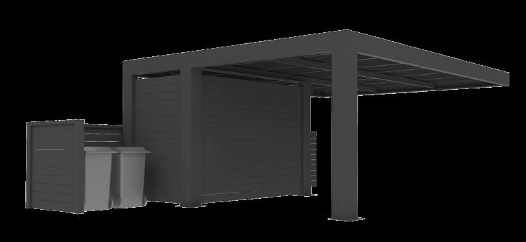 Abson vægmonteret carport